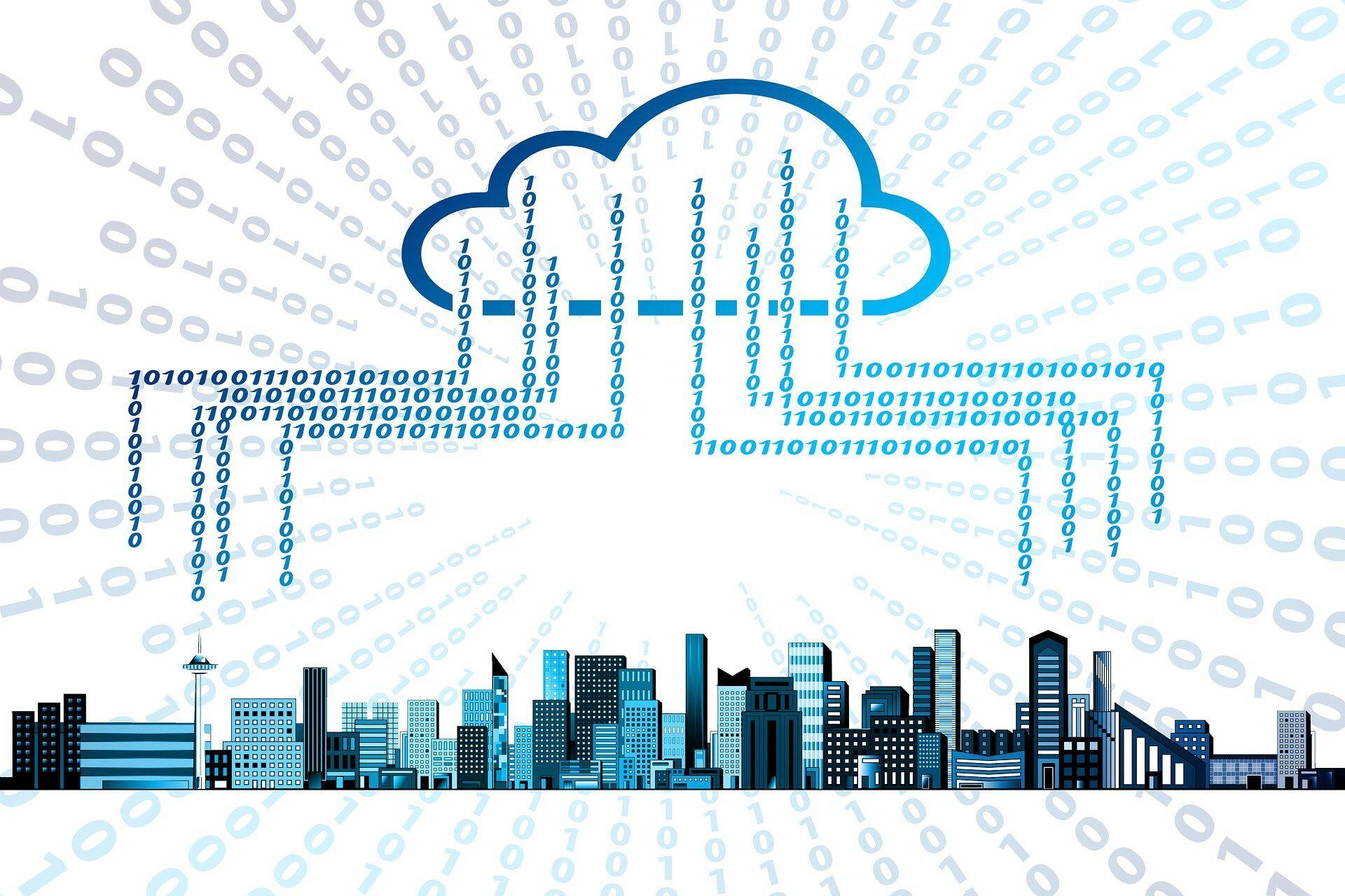 dieses Bild symbolisiert einen Cloud-Datenspeicher